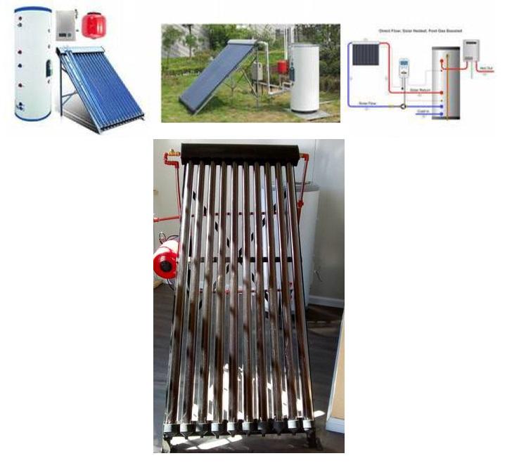 Equipo de agua caliente híbrido (solar-electricidad)