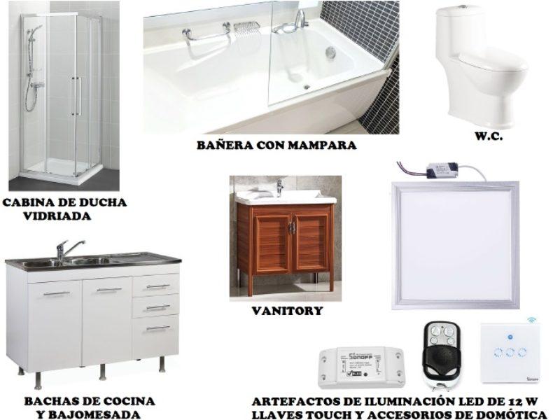 cocina y baño casas modulares