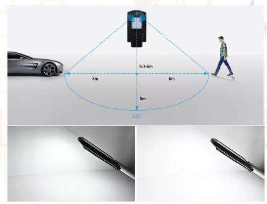 luminaria led sensor de movimiento