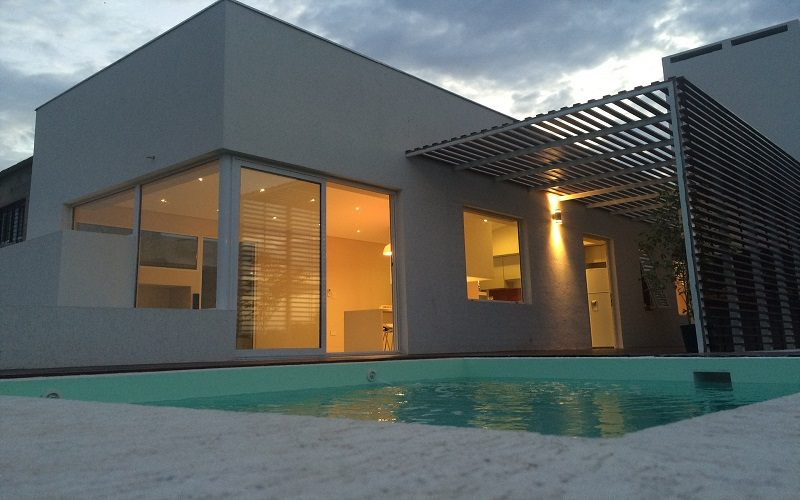 casa terminada con Sistema Steel Framing